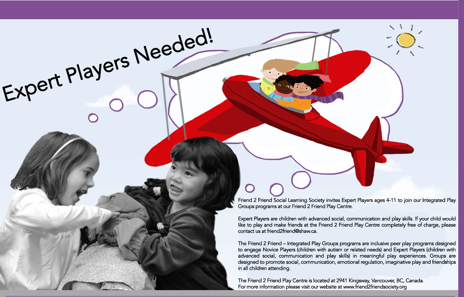 Integrated Play Groups Help Children >> Expert Players Needed Friend 2 Friend Social Learning Society